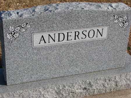 ANDERSON, FAMILY STONE - Clay County, South Dakota   FAMILY STONE ANDERSON - South Dakota Gravestone Photos