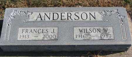 ANDERSON, FRANCES J. - Clay County, South Dakota | FRANCES J. ANDERSON - South Dakota Gravestone Photos