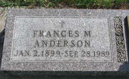 ANDERSON, FRANCES M. - Clay County, South Dakota | FRANCES M. ANDERSON - South Dakota Gravestone Photos