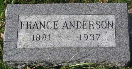ANDERSON, FRANCE - Clay County, South Dakota | FRANCE ANDERSON - South Dakota Gravestone Photos
