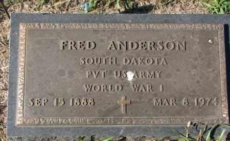 ANDERSON, FRED (WW I) - Clay County, South Dakota | FRED (WW I) ANDERSON - South Dakota Gravestone Photos