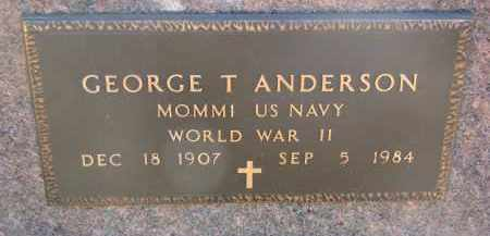 ANDERSON, GEORGE T. (WW II) - Clay County, South Dakota | GEORGE T. (WW II) ANDERSON - South Dakota Gravestone Photos