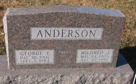 ANDERSON, MILDRED J. - Clay County, South Dakota | MILDRED J. ANDERSON - South Dakota Gravestone Photos