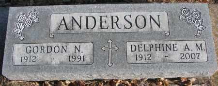 ANDERSON, GORDON N. - Clay County, South Dakota | GORDON N. ANDERSON - South Dakota Gravestone Photos