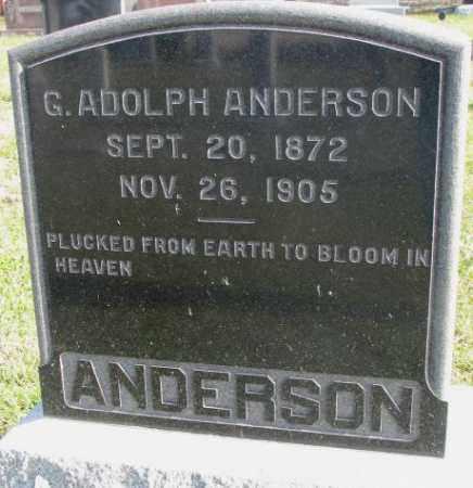 ANDERSON, G. ADOLPH - Clay County, South Dakota | G. ADOLPH ANDERSON - South Dakota Gravestone Photos