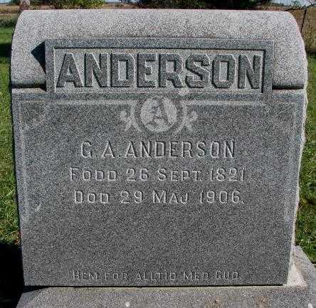 ANDERSON, G.A. - Clay County, South Dakota   G.A. ANDERSON - South Dakota Gravestone Photos
