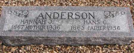 ANDERSON, HANNAH J. - Clay County, South Dakota | HANNAH J. ANDERSON - South Dakota Gravestone Photos