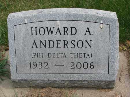 ANDERSON, HOWARD A. - Clay County, South Dakota   HOWARD A. ANDERSON - South Dakota Gravestone Photos
