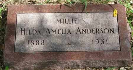 ANDERSON, HILDA AMELIA - Clay County, South Dakota | HILDA AMELIA ANDERSON - South Dakota Gravestone Photos