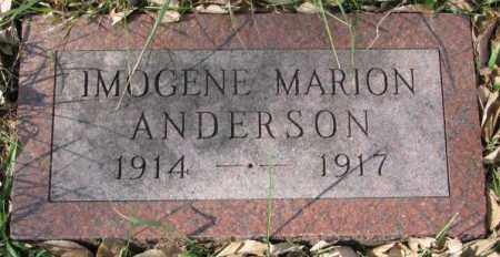 ANDERSON, IMOGENE MARION - Clay County, South Dakota | IMOGENE MARION ANDERSON - South Dakota Gravestone Photos