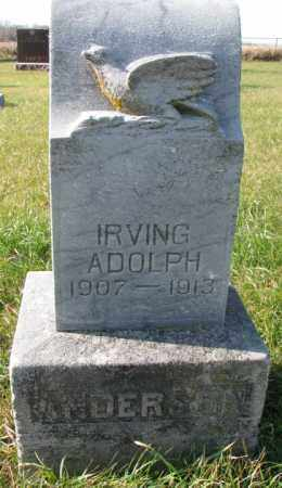 ANDERSON, IRVING - Clay County, South Dakota | IRVING ANDERSON - South Dakota Gravestone Photos