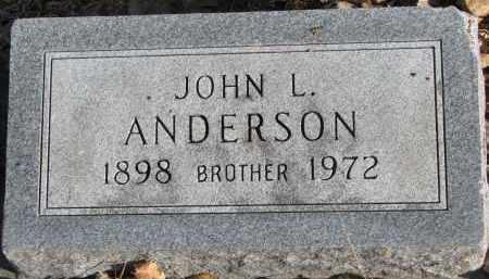 ANDERSON, JOHN L. - Clay County, South Dakota | JOHN L. ANDERSON - South Dakota Gravestone Photos