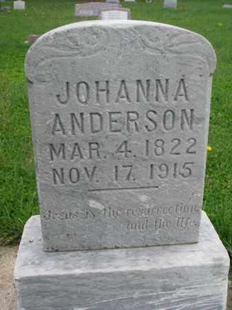 ANDERSON, JOHANNA - Clay County, South Dakota | JOHANNA ANDERSON - South Dakota Gravestone Photos
