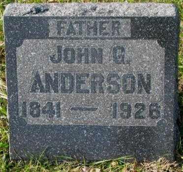 ANDERSON, JOHN G. - Clay County, South Dakota   JOHN G. ANDERSON - South Dakota Gravestone Photos