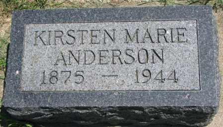 ANDERSON, KIRSTEN MARIE - Clay County, South Dakota | KIRSTEN MARIE ANDERSON - South Dakota Gravestone Photos
