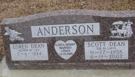 ANDERSON, LOREN DEAN - Clay County, South Dakota | LOREN DEAN ANDERSON - South Dakota Gravestone Photos