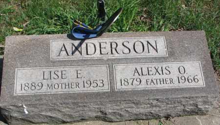ANDERSON, LISE E. - Clay County, South Dakota | LISE E. ANDERSON - South Dakota Gravestone Photos