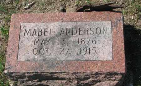 ANDERSON, MABEL - Clay County, South Dakota | MABEL ANDERSON - South Dakota Gravestone Photos