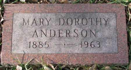 ANDERSON, MARY DOROTHY - Clay County, South Dakota | MARY DOROTHY ANDERSON - South Dakota Gravestone Photos