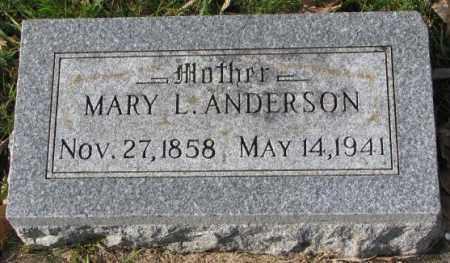 ANDERSON, MARY L. - Clay County, South Dakota | MARY L. ANDERSON - South Dakota Gravestone Photos