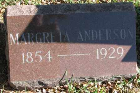 ANDERSON, MARGRETA - Clay County, South Dakota | MARGRETA ANDERSON - South Dakota Gravestone Photos