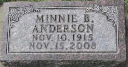ANDERSON, MINNIE B. - Clay County, South Dakota | MINNIE B. ANDERSON - South Dakota Gravestone Photos