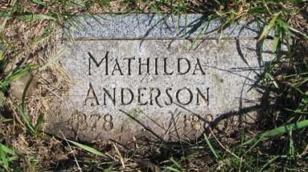 ANDERSON, MATHILDA - Clay County, South Dakota   MATHILDA ANDERSON - South Dakota Gravestone Photos