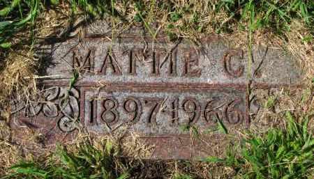ANDERSON, MATTIE C. - Clay County, South Dakota | MATTIE C. ANDERSON - South Dakota Gravestone Photos