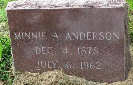 ANDERSON, MINNIE A. - Clay County, South Dakota   MINNIE A. ANDERSON - South Dakota Gravestone Photos