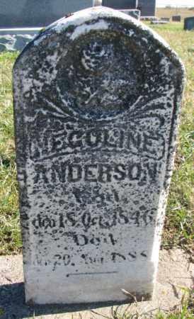 ANDERSON, NECOLINE - Clay County, South Dakota | NECOLINE ANDERSON - South Dakota Gravestone Photos