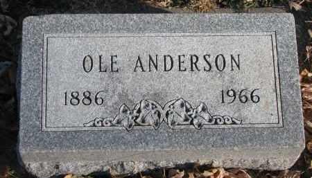 ANDERSON, OLE - Clay County, South Dakota | OLE ANDERSON - South Dakota Gravestone Photos