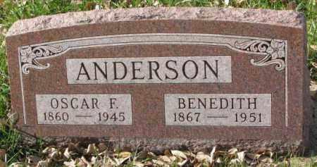 ANDERSON, BENEDITH - Clay County, South Dakota | BENEDITH ANDERSON - South Dakota Gravestone Photos