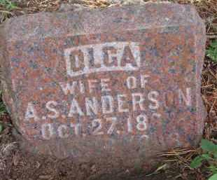 ANDERSON, OLGA - Clay County, South Dakota | OLGA ANDERSON - South Dakota Gravestone Photos
