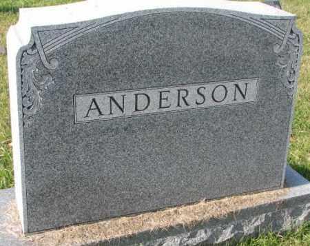ANDERSON, PLOT - Clay County, South Dakota   PLOT ANDERSON - South Dakota Gravestone Photos