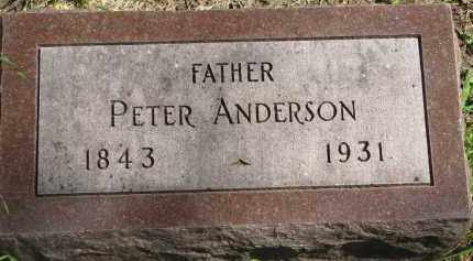 ANDERSON, PETER - Clay County, South Dakota | PETER ANDERSON - South Dakota Gravestone Photos