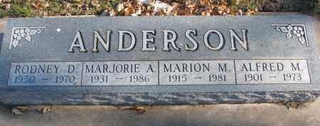 ANDERSON, MARION M. - Clay County, South Dakota | MARION M. ANDERSON - South Dakota Gravestone Photos
