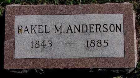 ANDERSON, RAKEL M. - Clay County, South Dakota | RAKEL M. ANDERSON - South Dakota Gravestone Photos