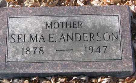 ANDERSON, SELMA E. - Clay County, South Dakota   SELMA E. ANDERSON - South Dakota Gravestone Photos