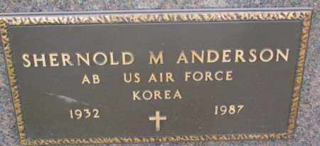 ANDERSON, SHERNOLD M. (MILITARY) - Clay County, South Dakota   SHERNOLD M. (MILITARY) ANDERSON - South Dakota Gravestone Photos