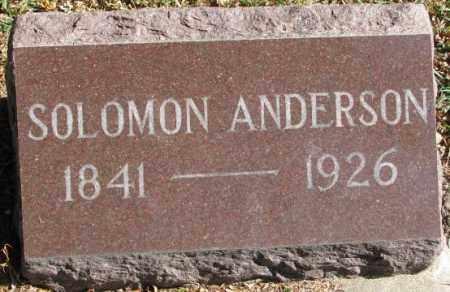 ANDERSON, SOLOMON - Clay County, South Dakota | SOLOMON ANDERSON - South Dakota Gravestone Photos