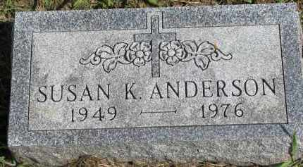 ANDERSON, SUSAN K. - Clay County, South Dakota | SUSAN K. ANDERSON - South Dakota Gravestone Photos