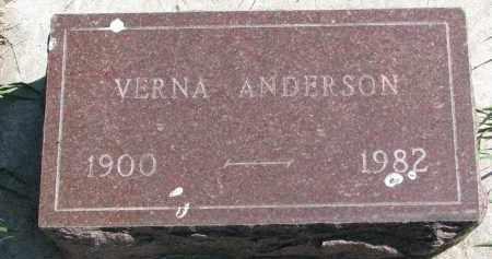 ANDERSON, VERNA - Clay County, South Dakota   VERNA ANDERSON - South Dakota Gravestone Photos