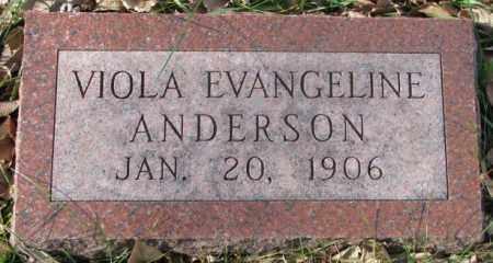 ANDERSON, VIOLA EVANGELINE - Clay County, South Dakota | VIOLA EVANGELINE ANDERSON - South Dakota Gravestone Photos