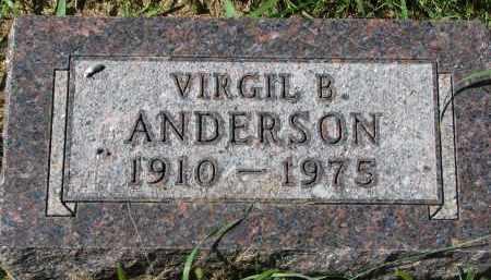 ANDERSON, VIRGIL B. - Clay County, South Dakota | VIRGIL B. ANDERSON - South Dakota Gravestone Photos