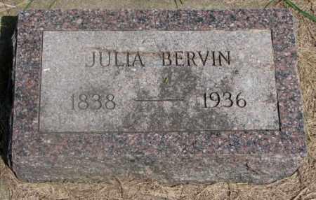 BERVIN, JULIA - Clay County, South Dakota | JULIA BERVIN - South Dakota Gravestone Photos
