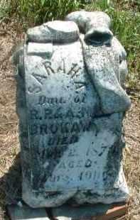 BROKAW, SARAH A. - Clay County, South Dakota | SARAH A. BROKAW - South Dakota Gravestone Photos