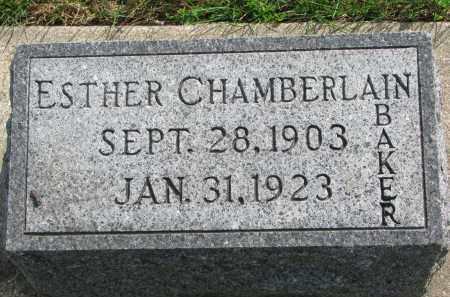 CHAMBERLAIN, ESTHER - Clay County, South Dakota | ESTHER CHAMBERLAIN - South Dakota Gravestone Photos