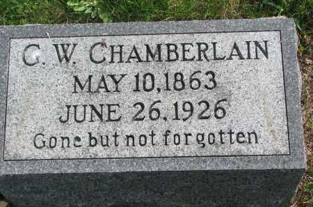 CHAMBERLAIN, G.W. - Clay County, South Dakota | G.W. CHAMBERLAIN - South Dakota Gravestone Photos