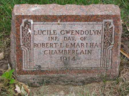 CHAMBERLAIN, LUCILE GWENDOLYN - Clay County, South Dakota   LUCILE GWENDOLYN CHAMBERLAIN - South Dakota Gravestone Photos