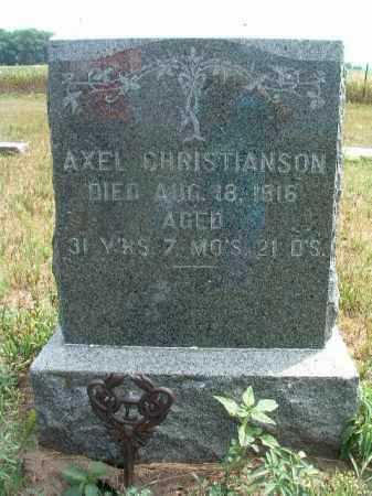 CHRISTIANSON, AXEL - Clay County, South Dakota | AXEL CHRISTIANSON - South Dakota Gravestone Photos
